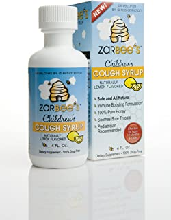 Zarbee's Naturals Cough Syrup Lemon Flavored-Zarbee's Naturals Cough Syrup, 4-Fluid Ounce Bottles (Pack of 2)