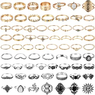 67Pcs Vintage Knuckle Rings Set Stackable Finger Rings...
