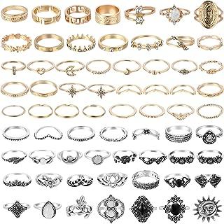 67Pcs Vintage Knuckle Rings Set Stackable Finger Rings...