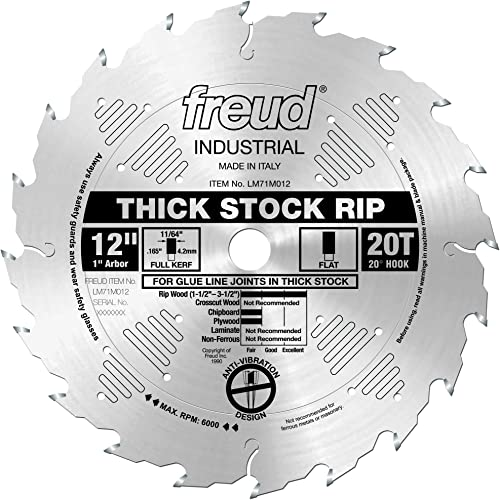 """high quality Freud high quality 12"""" x 20T Thick online sale Stock Rip Blade (LM71M012) online sale"""