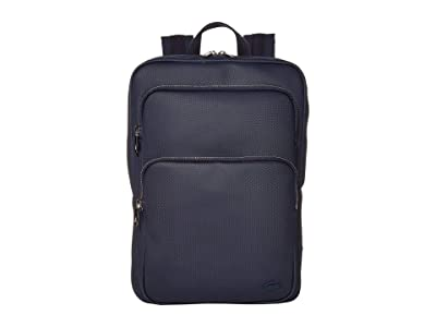 Lacoste Classic Square Backpack (Peacoat Blue) Backpack Bags
