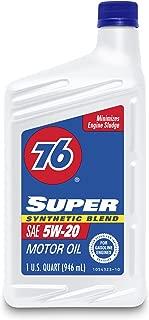 76 Lubricants(1043436-AI) 5W-20 Super Synthetic Blend Motor Oil - 1 Quart
