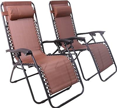 Domus Zero Gravity Chair (Brown, 2 Chairs)