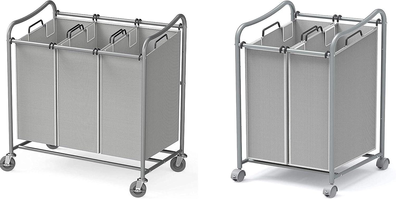 Simple Houseware Heavy-Duty 3-Bag + Laundry 正規激安 S 2-Bag Cart Sorter 5☆大好評