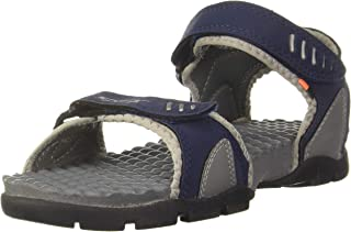 Sparx Men's Navy Blue and Light Grey Athletic and Outdoor Sandals - 8 UK/India(SS-103)