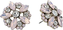 Nina - Opal Floral Stud Earrings