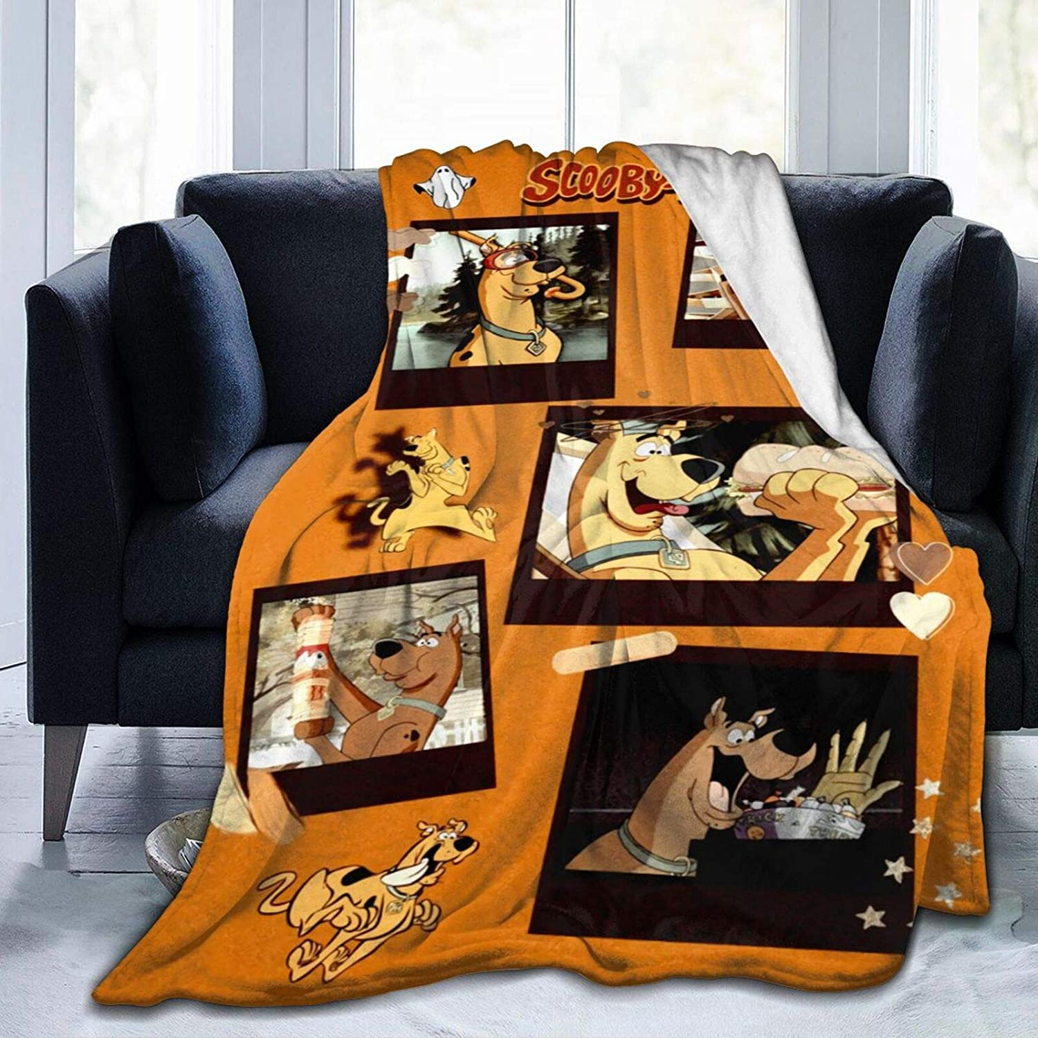 Dserc Scooby-Doo Blanket Ultra メーカー公式 Soft 直営限定アウトレット Warm Throw F Flannel
