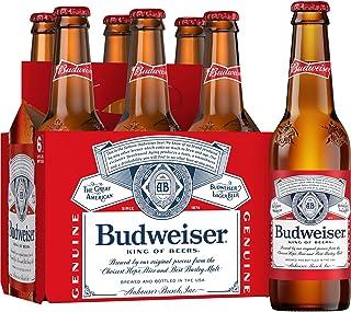 Budweiser Pint Beer, 355ml, (Pack of 6)