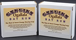 ogallala bay rum and orange shaving soap