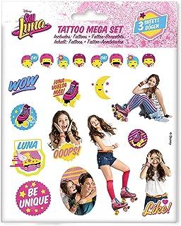 Craze 55442–Tattoo Mega Set Disney Soy Luna, 3hojas, colores surtidos