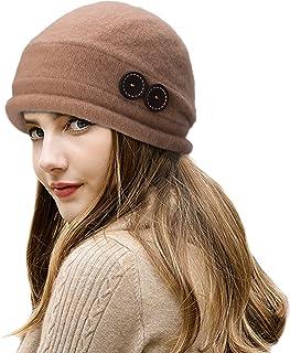 b0648f0a326 Lawliet New Womens 100% Wool Slouchy Wrinkle Button Winter Bucket Cloche Hat  T178