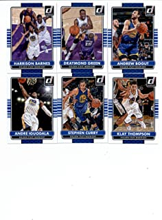 2014/15 Donruss Basketball Team Set (Veterans)- Golden State Warriors (7 Cards)> Klay Thompson,Andre Iguodala,Stephen Curry,Andrew Bogut,Draymond Green,David Lee,Harrison Barnes