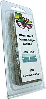 Single Edge Razor Blade Box (Pack of 100) - Heavy Duty