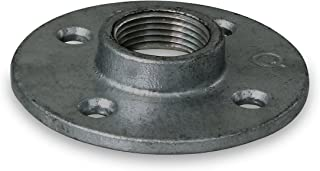 Everflow Supplies BMFL0112 Black Malleable Floor Flange with Four Screw Holes, 1-1/2