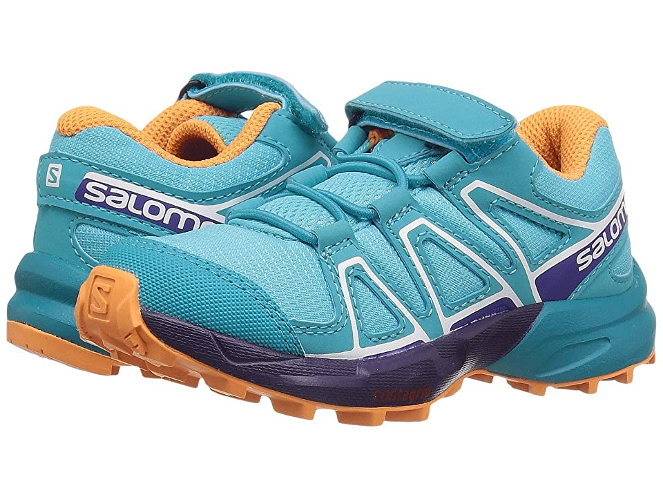 Salomon Kids Speedcross Bungee (Toddler/Little Kid) (Blue Curacao/Acai/Bird of Paradise) Girls Shoes