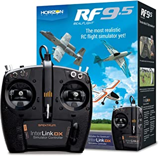 RealFlight 9.5: RF9.5 Radio Control RC Flight Simulator Software with Spektrum Interlink-DX Controller, RFL1200