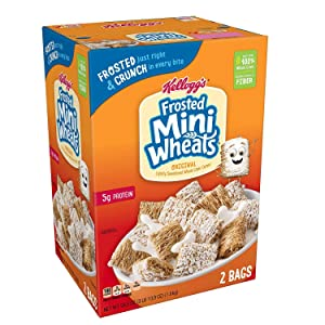 Kellogg's Frosted Mini-Wheats - 2 Bags - 58.8 Oz