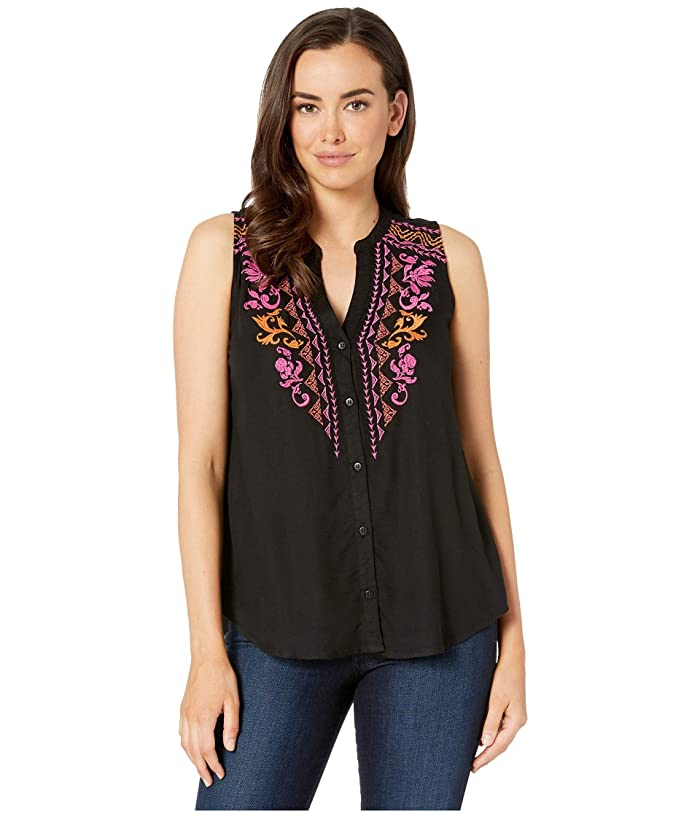 Roper 2424 Solid Rayon Challis Embroidered Tunic