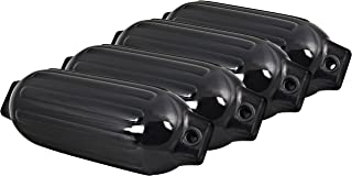 Best Choice Products Set of 4 27in Ribbed Marine Vinyl Boat Fender Bumper Dock Shield Protection