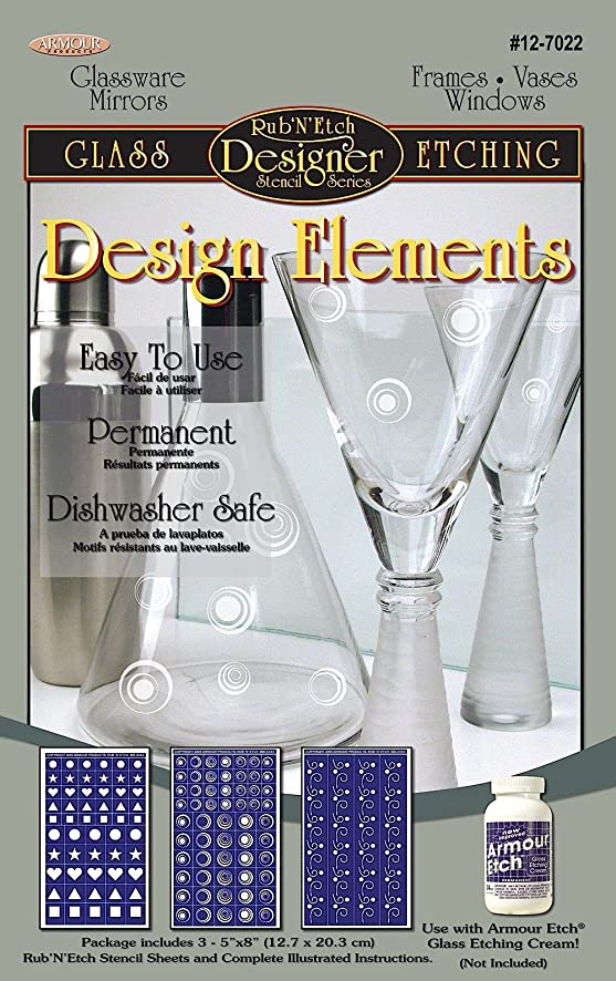 Armour Etch Designer Stencil, Pak Design Elements