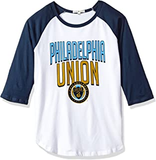 Junk Food MLS Philadelphia Union Women's 3/4 Raglan Tee, X-Large, Ew/Non