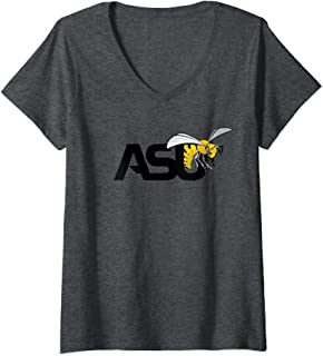 Womens Alabama State University Hornets NCAA PPALU01 V-Neck T-Shirt