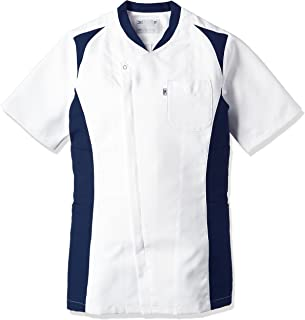 [ミズノ] スクラブ・白衣 さらりとした素材 快適な肌触り 【 制菌/透防止/制電 】 左胸ポケット 両脇二段ポケット ネームプレート付 全5サイズS~3L 4色展開 MZ0111 メンズ