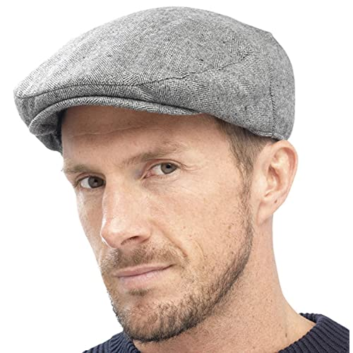 Men s Stylish Warm Traditional Country Flat Cap Hat with Quilted Lining 6b6f1a4d932