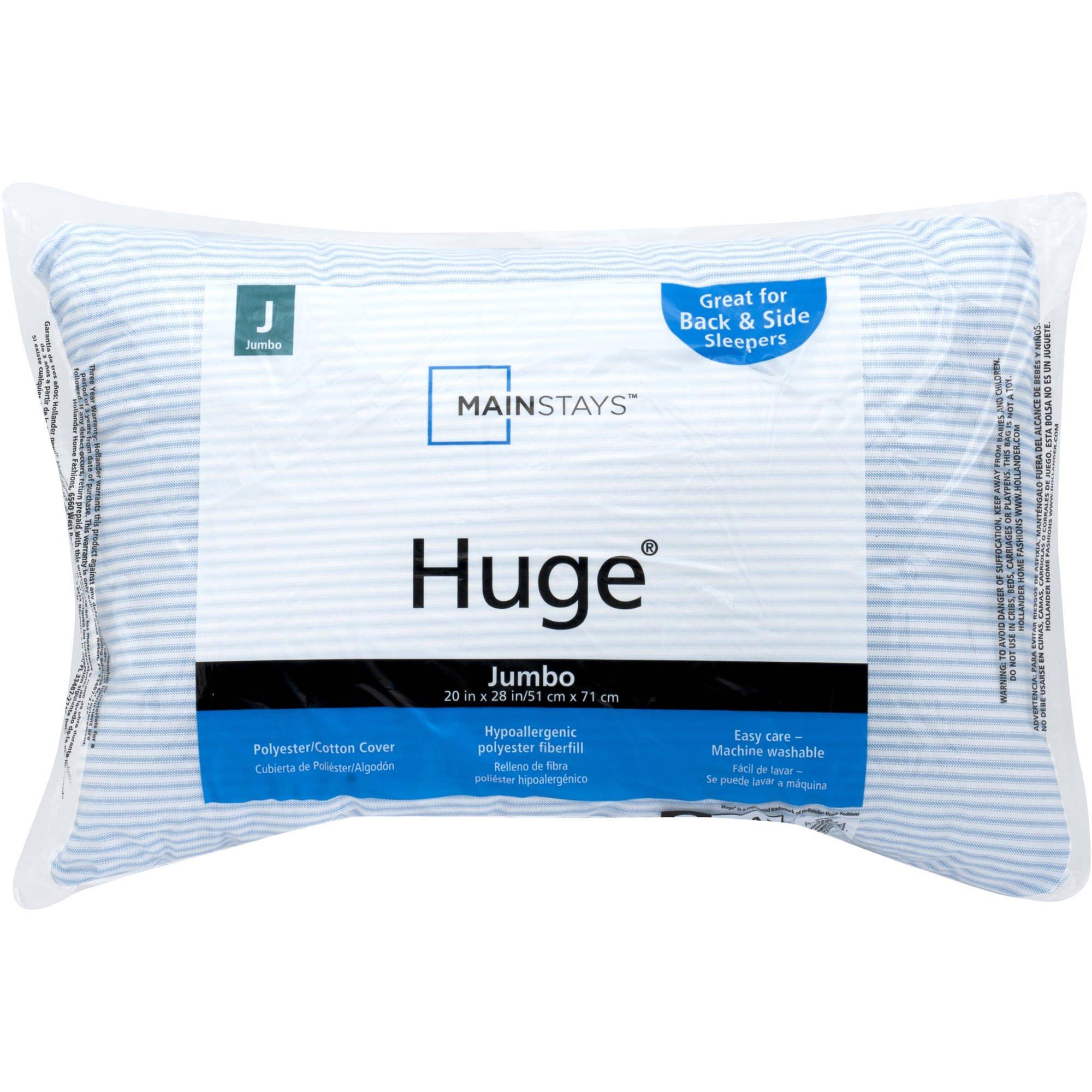 Huge Comfy Pillow White Stripe