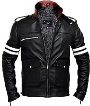Prototype - Alex Mercer Dragon Soft Cow Hide Leather Jacket, Black