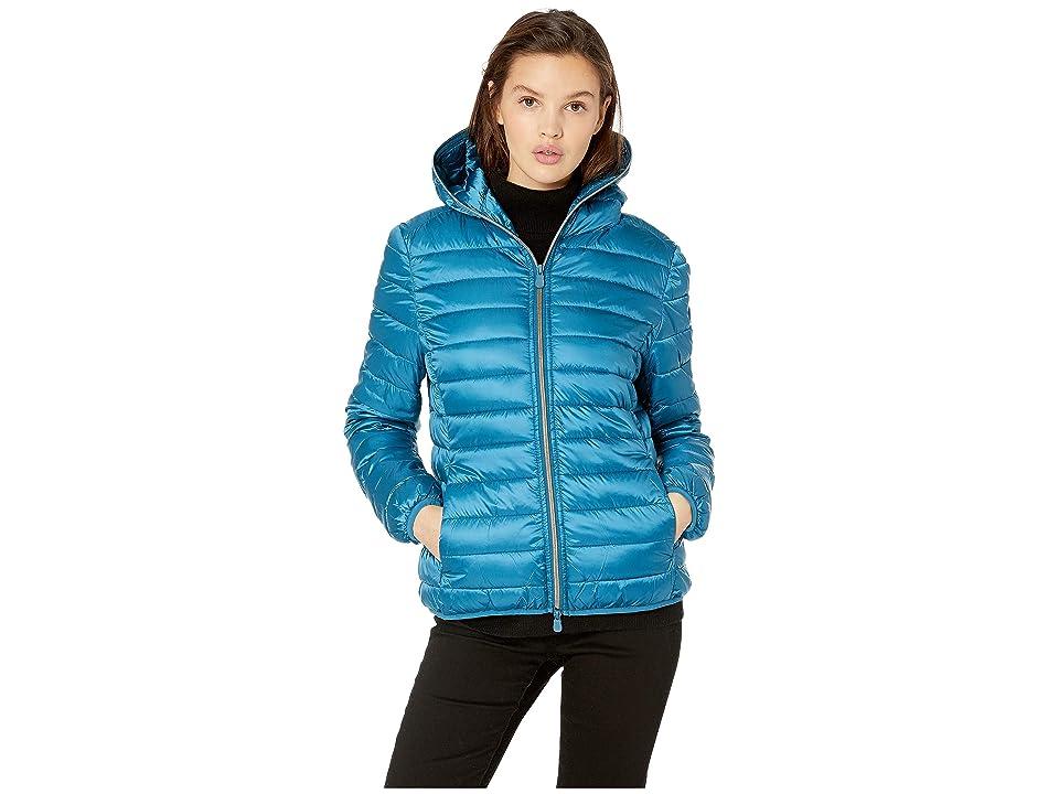 Save the Duck Iridescent Basic Nylon Jacket (Atlantic) Women