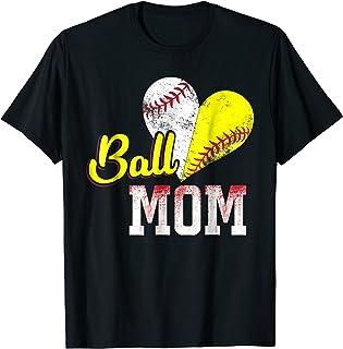 Funny Ball Mom Softball Baseball T-Shirt