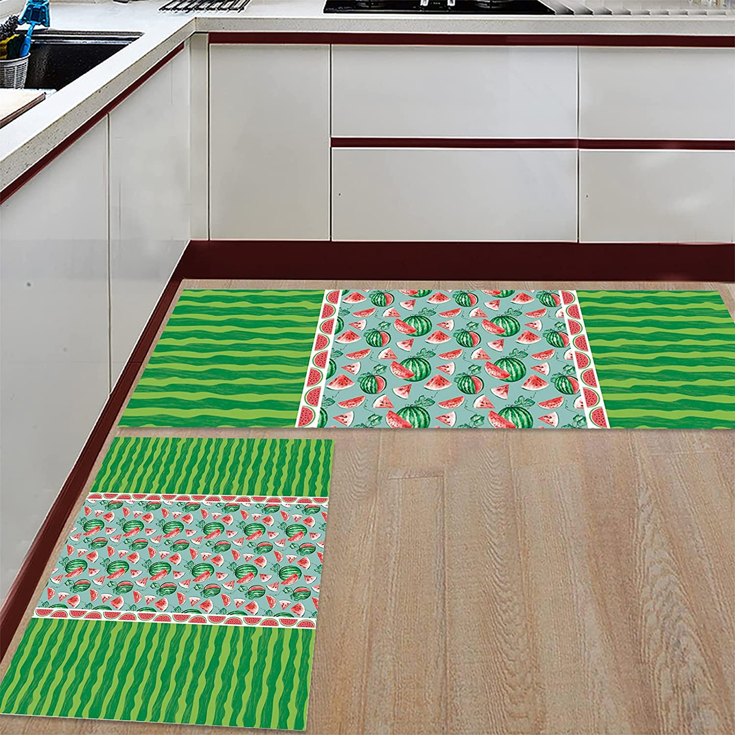 Teamery Kitchen Rugs and Mats Set Runner Comfort 2 Max 61% OFF Cushioned of Recommended