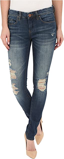 Blank NYC - Skinny Classique Jeans with Distressing in Denim Blue