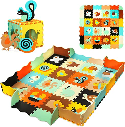"""lowest 56"""" X 56"""" Baby Play Mat lowest Floor Mat Foam Puzzle Playmat Interlocking Floor Tiles Crawling Mat for online Kids, Toddlers and Infants outlet online sale"""