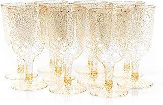 Matana 50 Copas de Vino Transparentes con Brillo Dorado - 17