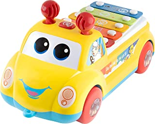 CoolToys Baby Xylophone Musical Toy - Follow Pull & Play Car Xylophone for Kids and Toddlers - Developmental Learning Craw...