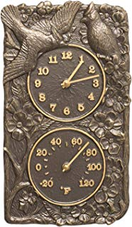 Whitehall Products Cardinal Combo Clock, French Bronze