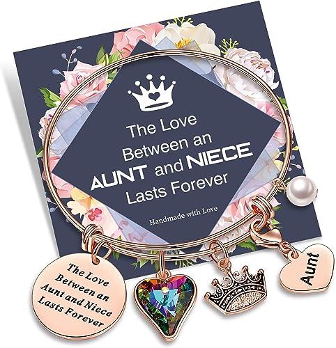 Yoosteel Inspirational Bracelets for Women, Rose Gold Inspirational Bracelets Gifts for Daughter, Best Friend, Niece, Bonus Mom, Cousin, Teacher, Women Girls Jewelry