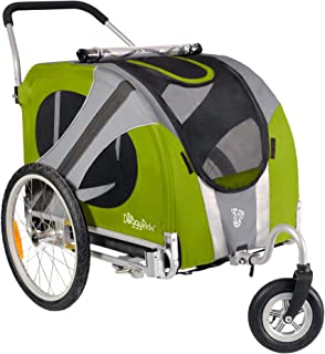 doggyride novel dog stroller outdoors green