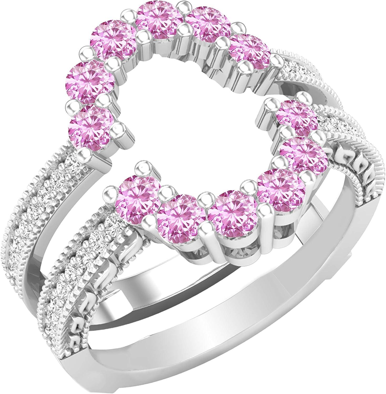 Dazzlingrock Collection Round Gemstone Ladies White En Max 73% OFF Diamond Max 45% OFF
