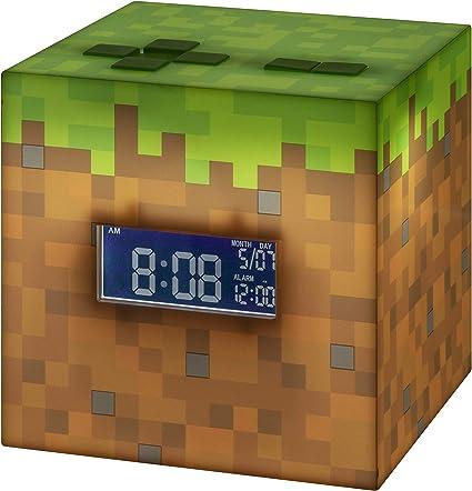 Paladone PP6733MCF Minecraft - Reloj Despertador, Multicolor