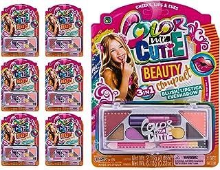 JA-RU Makeup Beauty Color Girl Professional Makeup (6 Sets) Great Party Favors Toys for Girls Makeup Brush Set Eyeshadow P...
