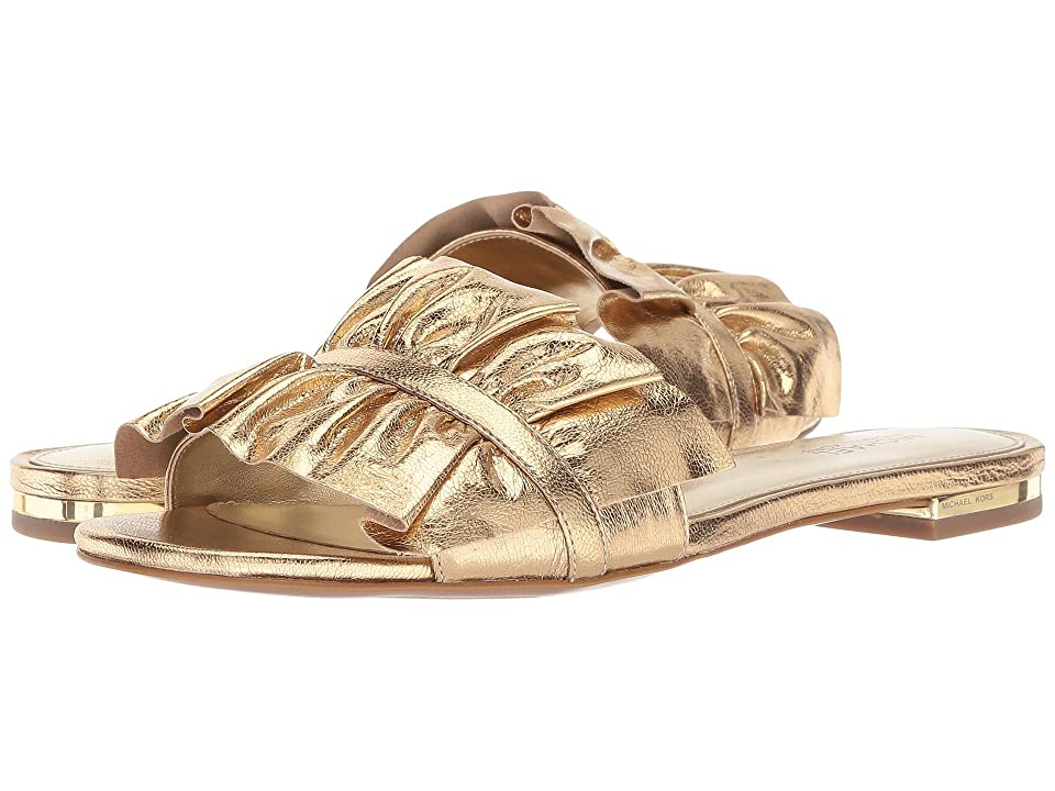 MICHAEL Michael Kors Bella Slide (Pale Gold) Women