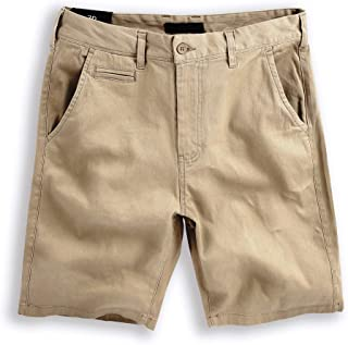 Hat and Beyond Mens Essential Chino Stretch Oxford Summer Flat Front Dress Shorts