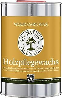 OLI-NATURA Holz-Pflegewachs Zur Auffrischung und Pflege aller hartwachsöl-behandelten Holzoberflächen, 1 Liter, Farblos/natur
