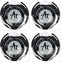 4 Pack American Racing 1342100S Snap-in Center Cap with Silver Logo