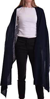 Stola Misto Cashmere Donna Made In Italy Lana Merino Cachemire Nero Beige Bianco Grigio Sciarpa Sciarpone Uomo Scialle Cal...