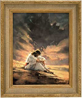 Ron DiCianni IN THE WILDERNESS Canvas 18x23 Image Gorgeous gold frame show piece Jesus Christ Christian Art
