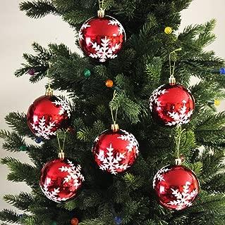 Sleetly 12pk Snowflake Shatterproof Christmas Ball Ornaments, 3.15 inches